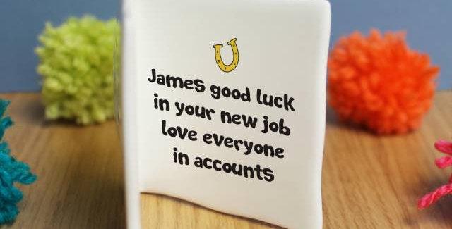 Good Luck Message Card
