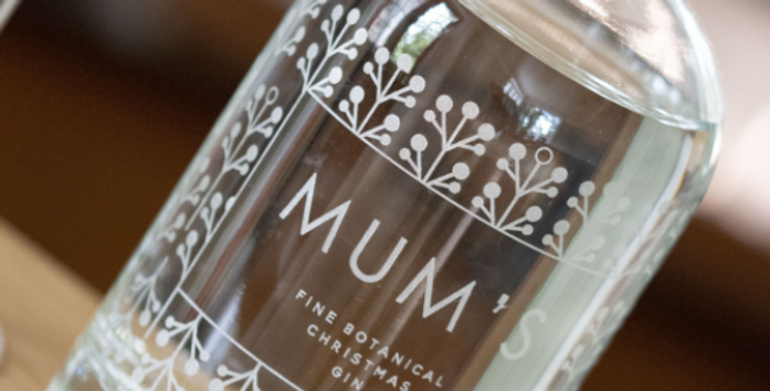 personalised  holly gin bottle