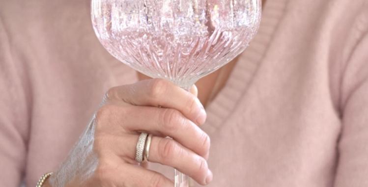 crystal cut gin glass