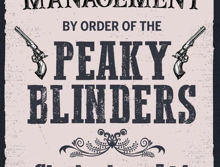 peaky blinders metal wall signs