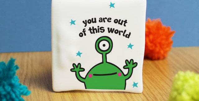Cosmic Alien Message Card