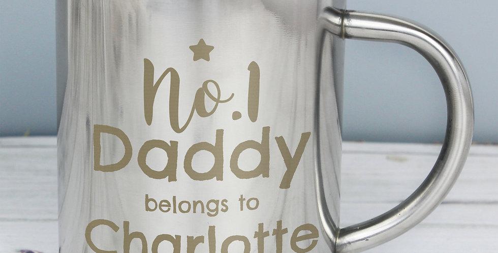 daddy metal mug