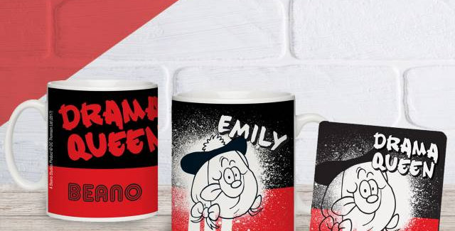 Beano Big Heads Minnie Mug & Coaster