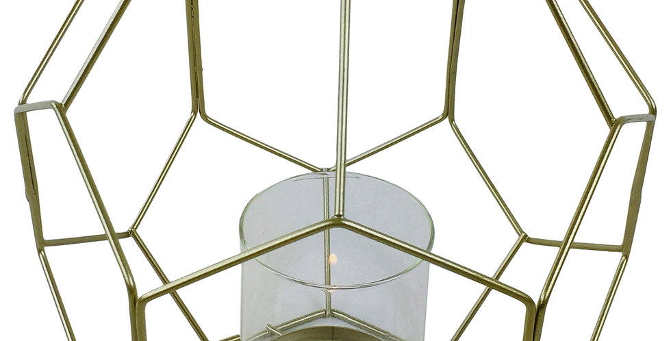 geometric shape candle holder