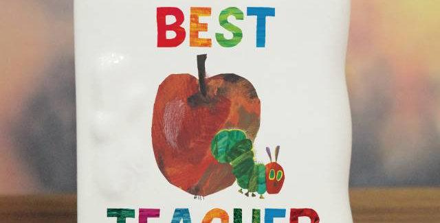 Very Hungry Caterpillar Best Teacher Message Card