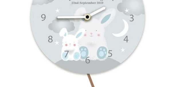 bunny rabbit personalised clock