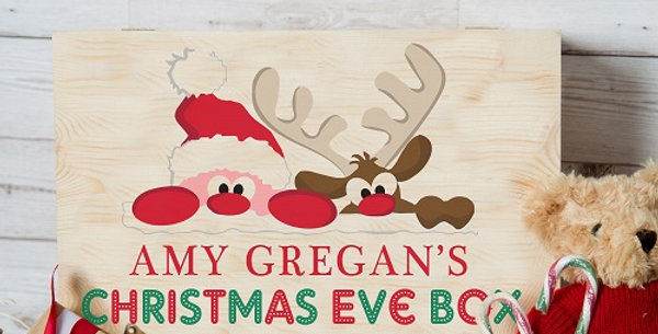 Santa and Rudolph Christmas Eve Box for Kids