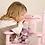 Thumbnail: Baby Girl Engraved Pink Rocking Chair
