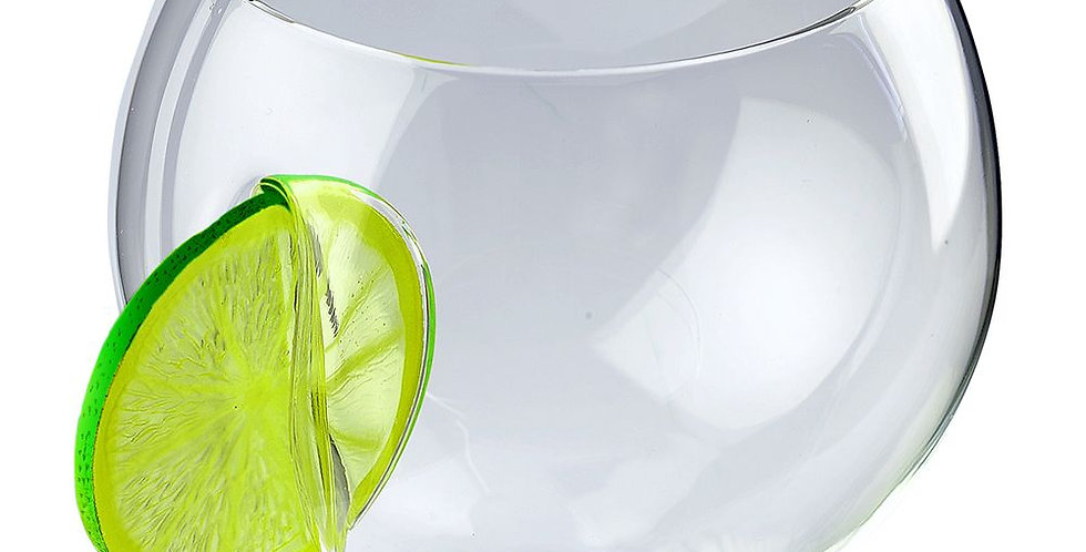 ice and slice balloon copa glass-lime