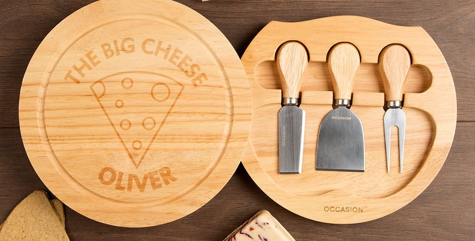 The Big Cheese Round Cheeseboard Set
