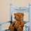 Thumbnail: Baby Boy Engraved Blue Rocking Chair