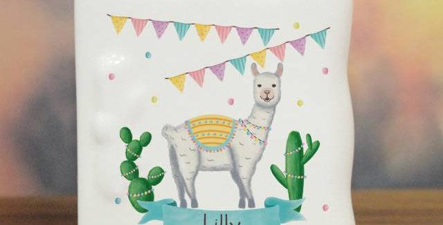 Llama Fiesta Message Card