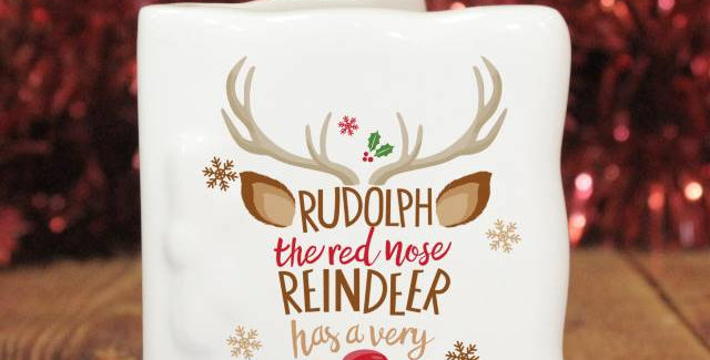 rudolph bone china card