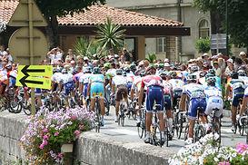 The Tour de France often passes near by