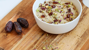 Rose water, Date and Pistachio Oatmeal