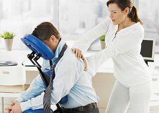 massage Grenoble Francoise de Lehellle Affroux - massage en entreprise - massage assis