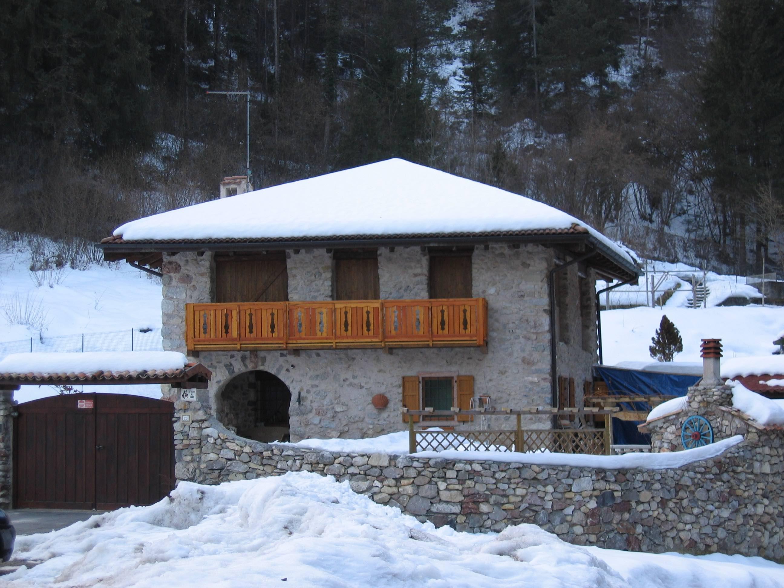 Eerste bezichtiging met sneeuw