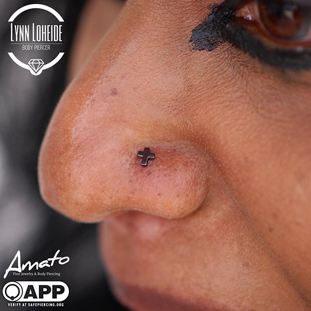Healed nostril piercing by me swapped fo