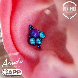 _leroifinejewelry killing in with this glowing and magical cluster anodized deep blue in h