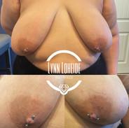nipple piercings with titanium