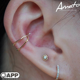 Healed conch and nearly healed anti tragus by me looking lovely In some _bvla #appmember #