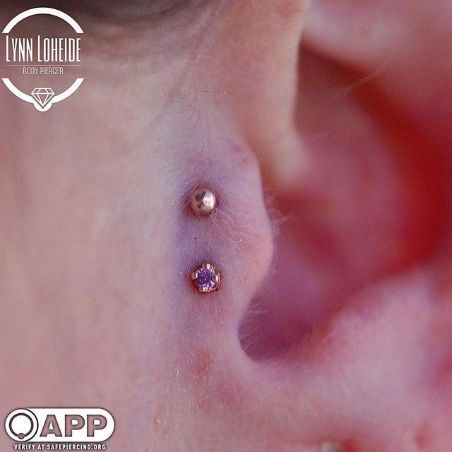 Fresh double tragus with some _bodygems