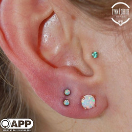 Really rad set of stacked seconds with some _neometaljewelry #appmember #safepiercing #cor