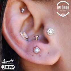 Fresh anti tragus with a sweet genuine p