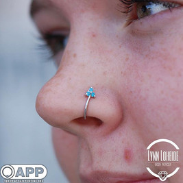 Healed nostril swapped to some beautiful _bvla #appmember #safepiercing #bodyvisionlosange