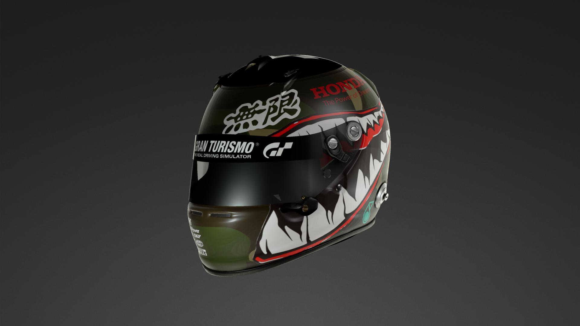 Racing helmet. Inspired by classic fighter jets.