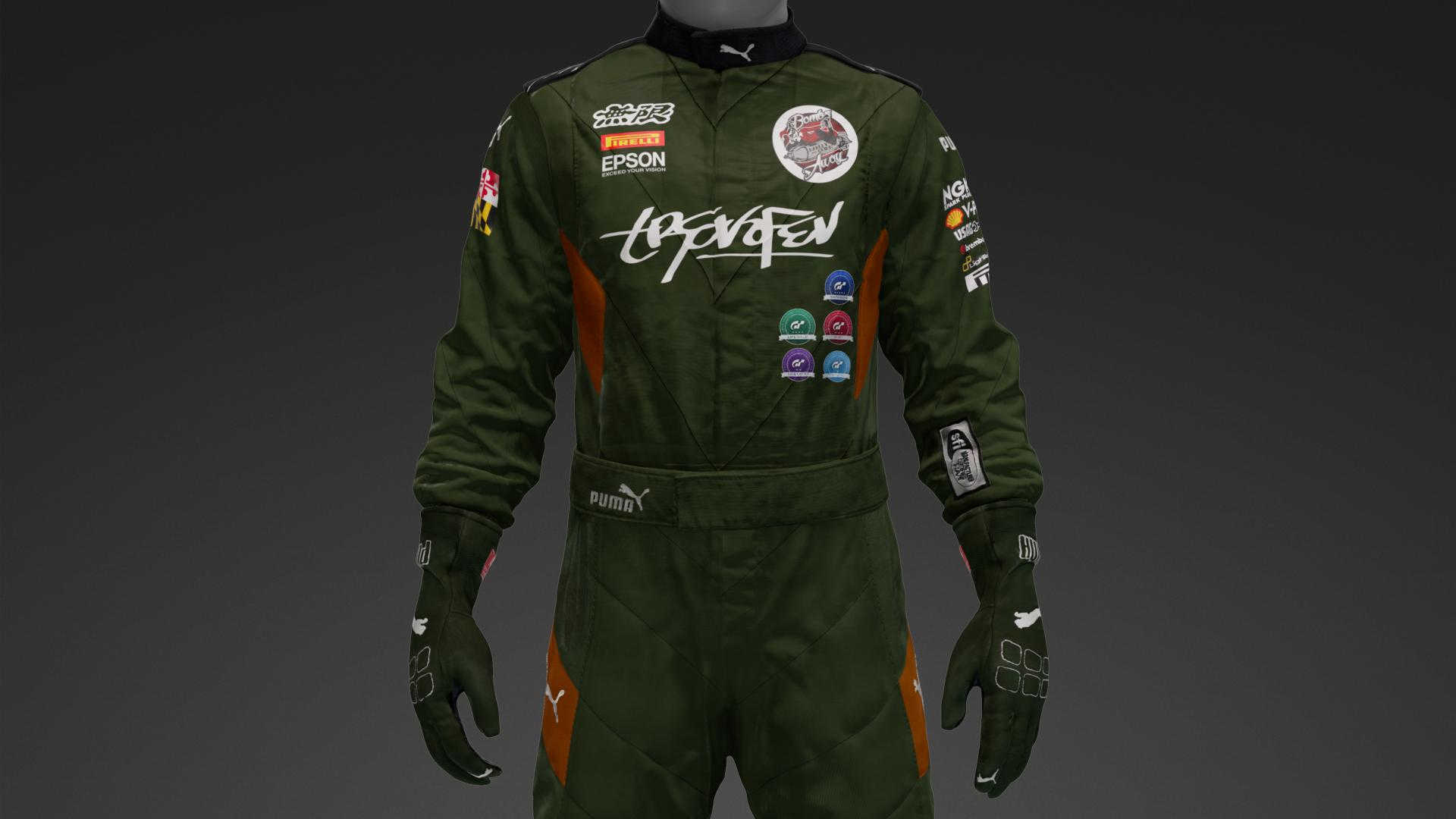 Racing suit. Inspired by fighter jet pilot suit.
