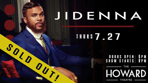 The Howard Theatre - Jidenna flyer