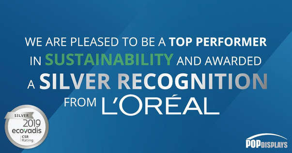 POP Displays sustainability award graphic