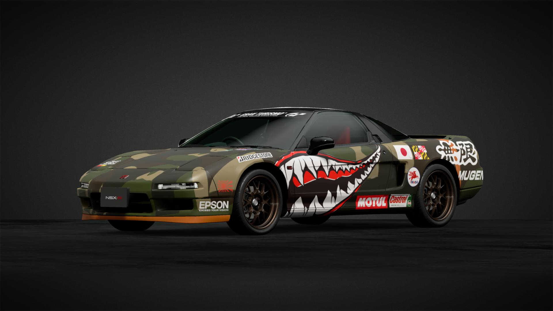 Honda NSX racing livery. Inspired by classic fighter jets.