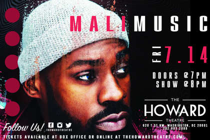 The Howard Theatre - Mali Music flyer