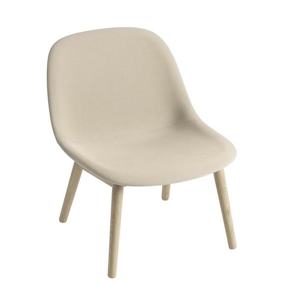 Fiber Lounge Chair Wooden Legs