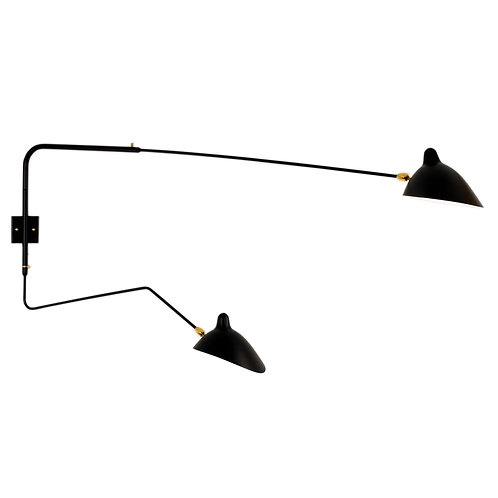 Two Arms Wall Lamp by Serge Mouille