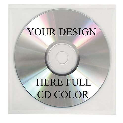 2500 cds full color in clear cd sleeves