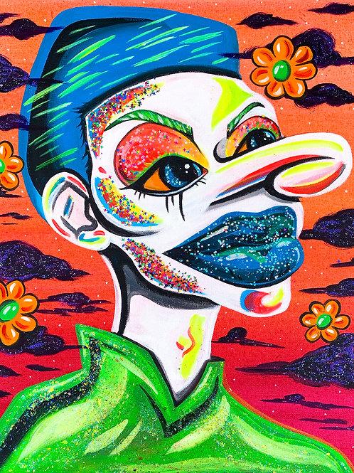 Neon Glitter Clown