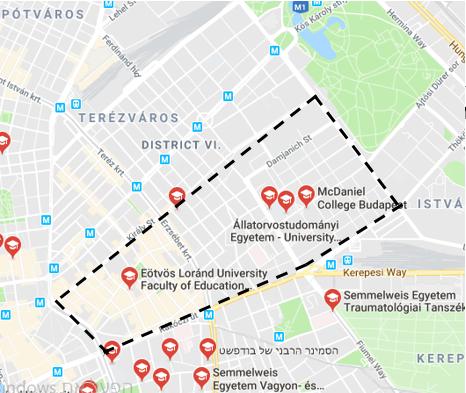 אוניברסיטאות הנמצאות ברובע 7 ובסביבתו