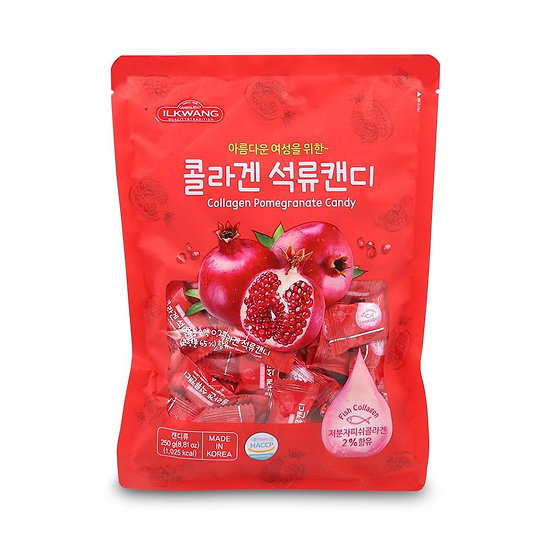 Collagen Pomegranate Jelly- Keo red cứng, kẹo pink mềm