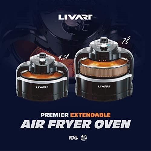 Air Fryer Oven Livart 7L - Nồi chiên không dầu
