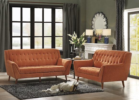Orange Sofa Set
