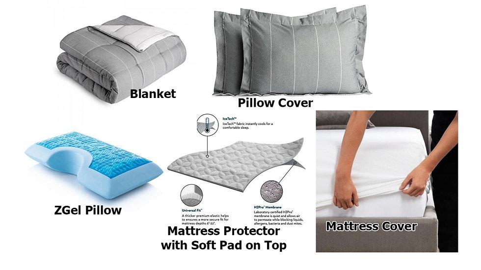 Combo Set For Bed - Combo 5 Món (Mền, 2 Bao Gối, Gối, Trải Nệm, Bọc Nệm)