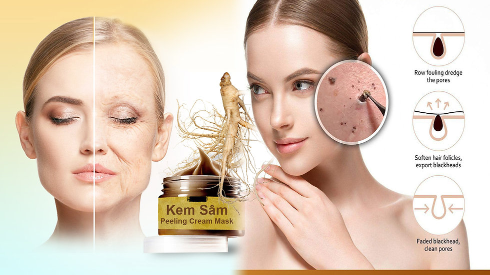 Herbal Mask Cream Peel off Mask Acne Treatment- Kem Ngọc Sâm