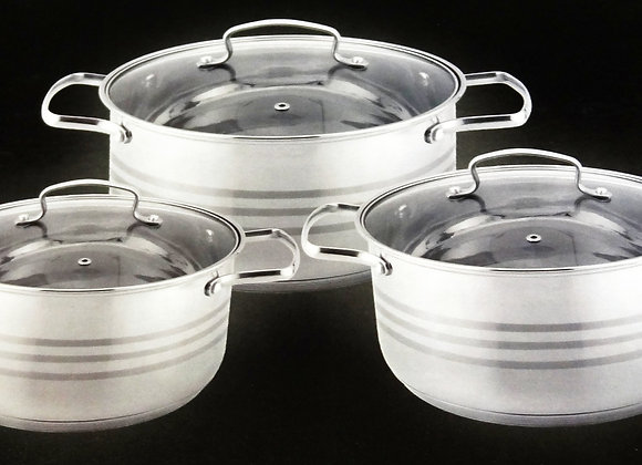 6 Pieces Germany Cookware Set - Bộ Nồi 6 Miếng