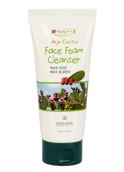 Jeju Cactus Face Foam Cleanser - Sữa Rửa Mặt Xương Rồng