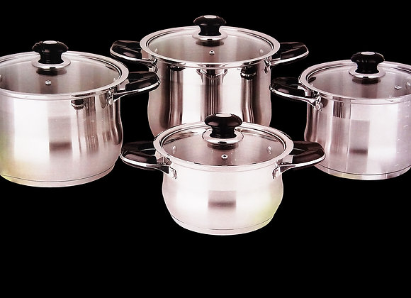 8 Pieces Germany Cookware Set - Bộ Nồi 8 Miếng