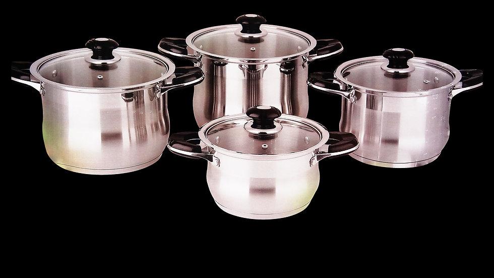 8 Pieces Germany Cookware Set - Bộ nồi Đức 8 miếng