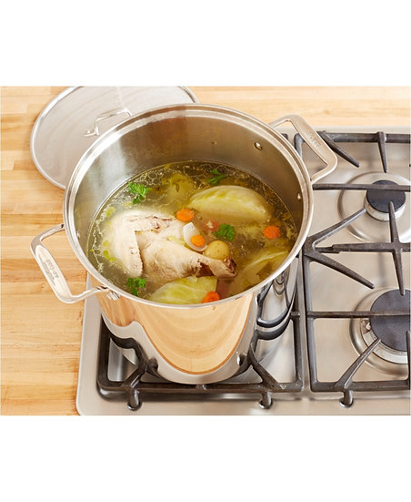 Stainless Steel Big Pot w Steamer-Bộ nồi xửng